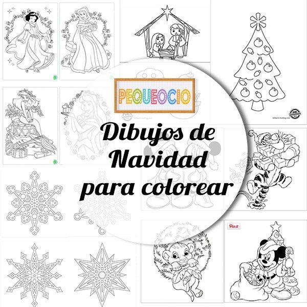 50 Dibujos De Navidad Para Colorear Y Aprender A Dibujar Pequeocio Dibujos De Navidad Dibujos Para Colorear Como Hacer Adornos Navidenos