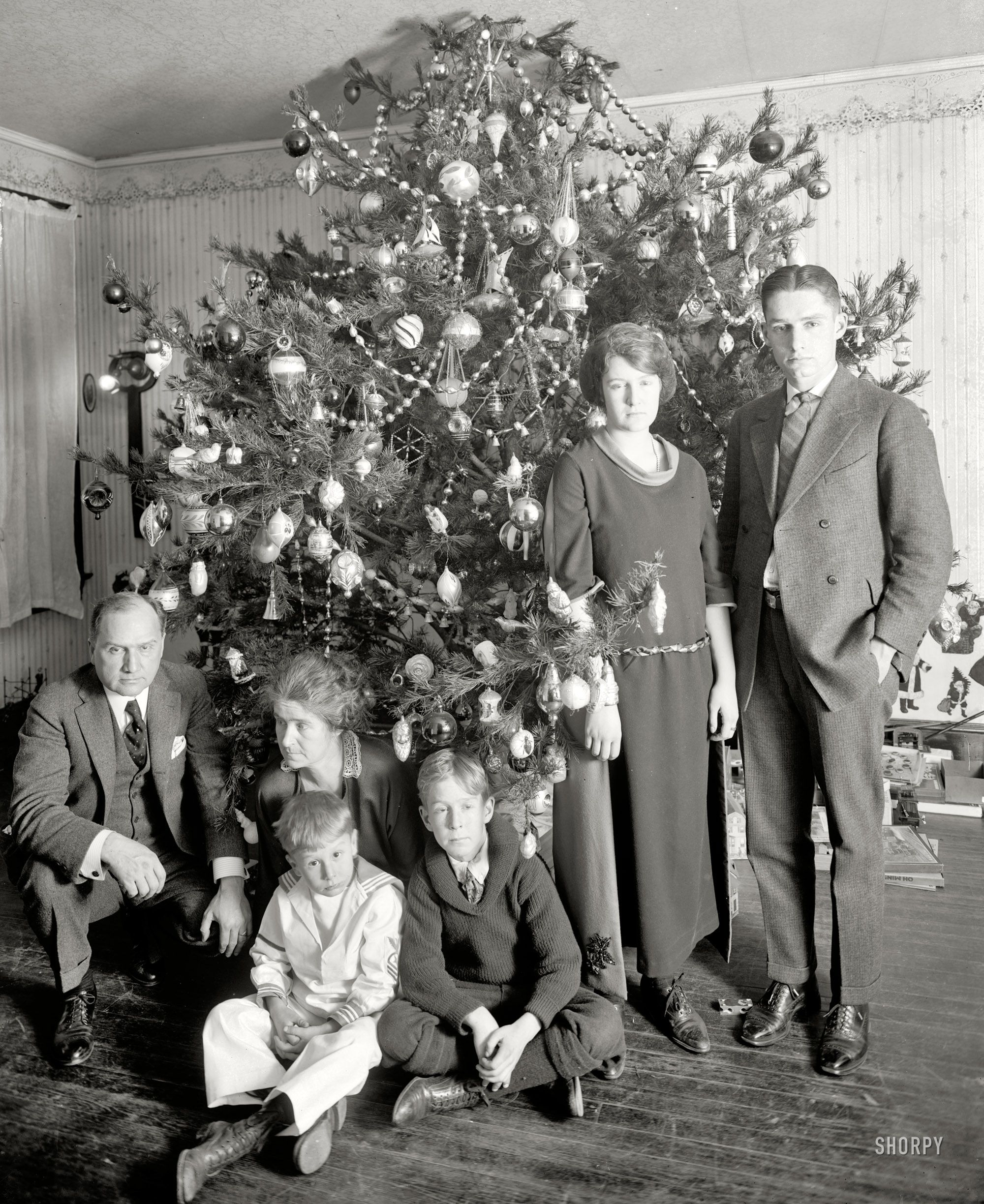 dickey christmas tree 1922 visit with the family of. Black Bedroom Furniture Sets. Home Design Ideas