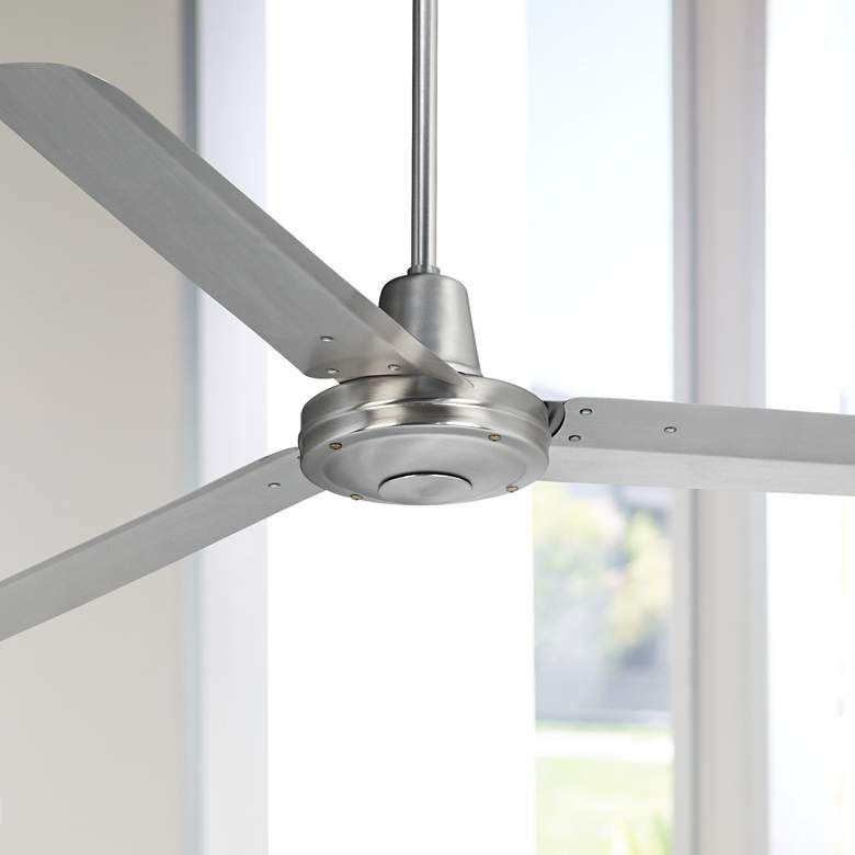 60 Turbina Dc Brushed Nickel Ceiling Fan R4144 Lamps Plus Ceiling Fan Brushed Nickel Ceiling Fan Ceiling Fans Without Lights