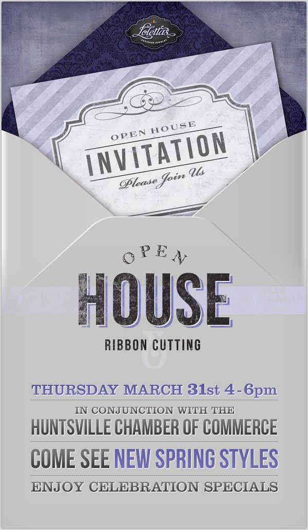 A classy open house email invitation from this Huntsville, Alabama ...