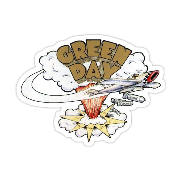 Green Day S Dookie Logo Sticker By Ccensored In 2021 Green Day Dookie Logo Sticker Green Day Tattoo
