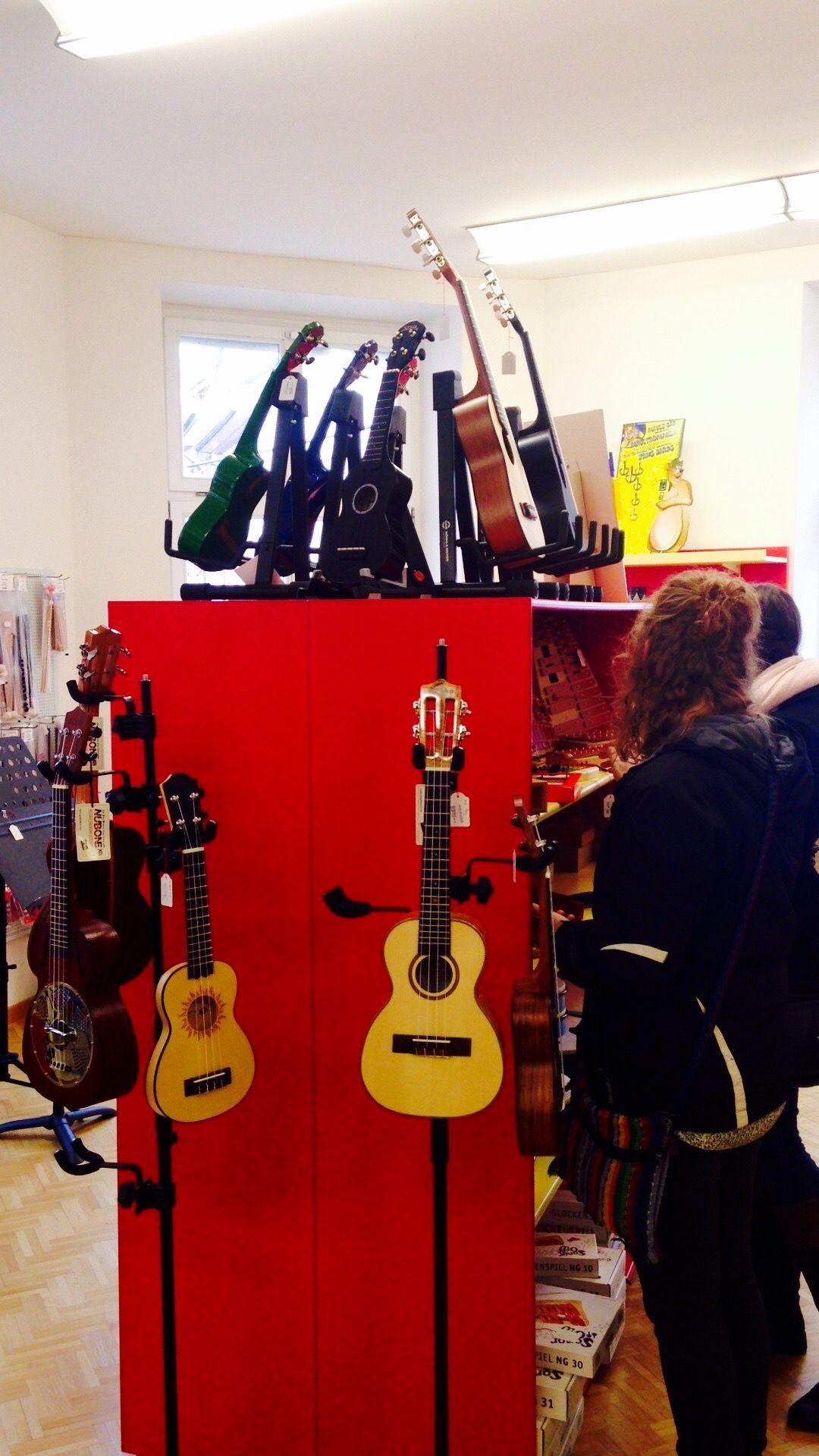 Music store perusing