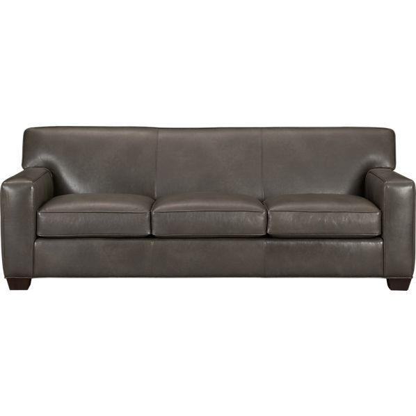 Cameron Leather Queen Sleeper Sofa In Sleeper Sofas Crate And Barrel Leather Sleeper Sofa Stylish Sofa Bed Modern Leather Sofa
