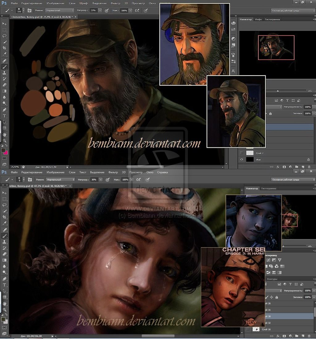 My Clementine and Kenny WIP on