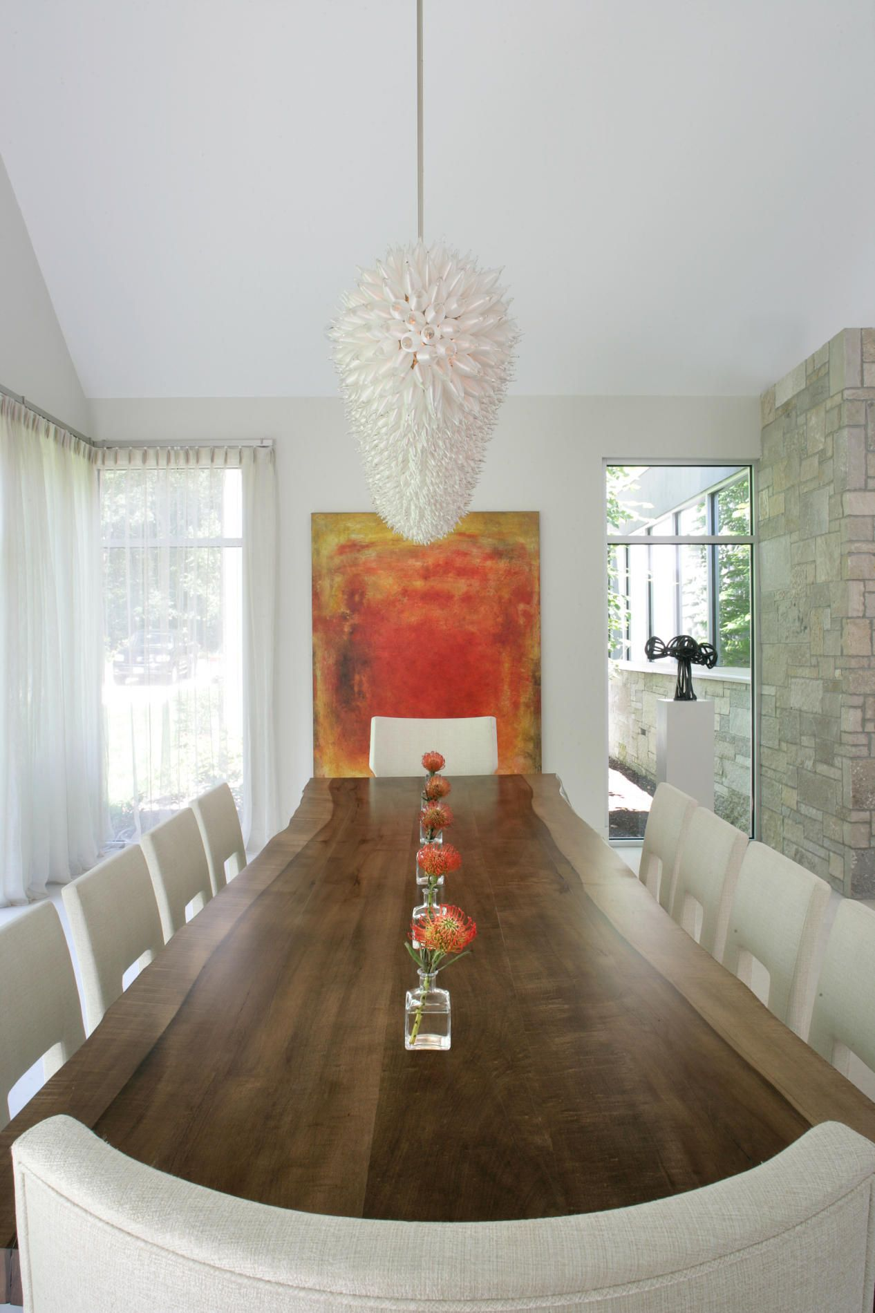 Long kitchen tables  Betty Wasserman Art u interiors Ltd  Modern Farmhouse love the