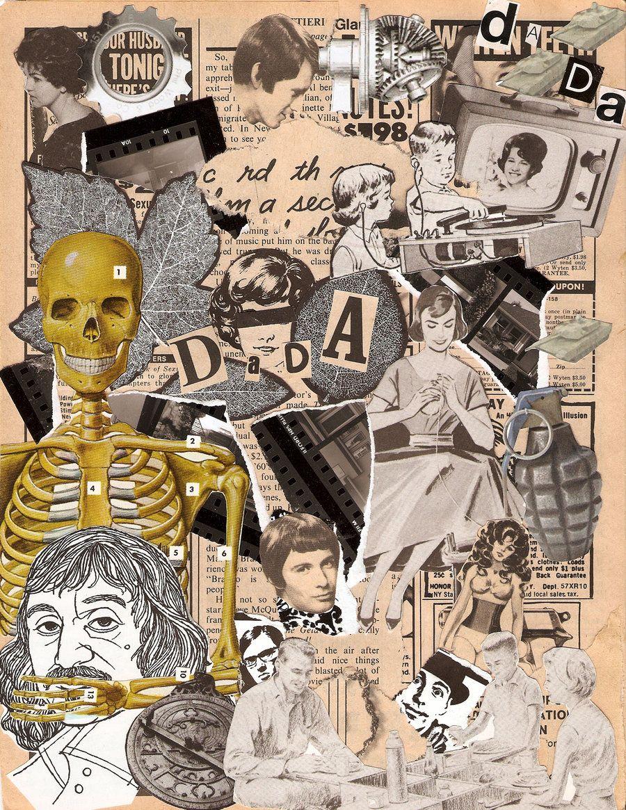 Dada Art Movement Collage
