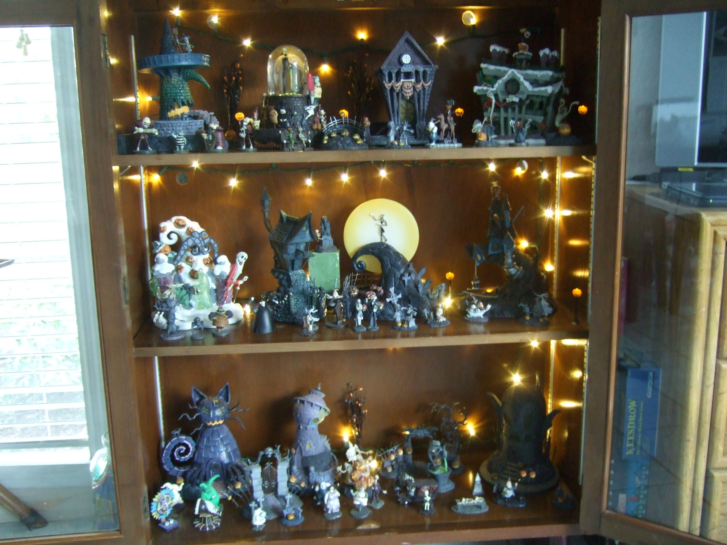My Nightmare Before Christmas collectibles cabinet | Halloween! in ...