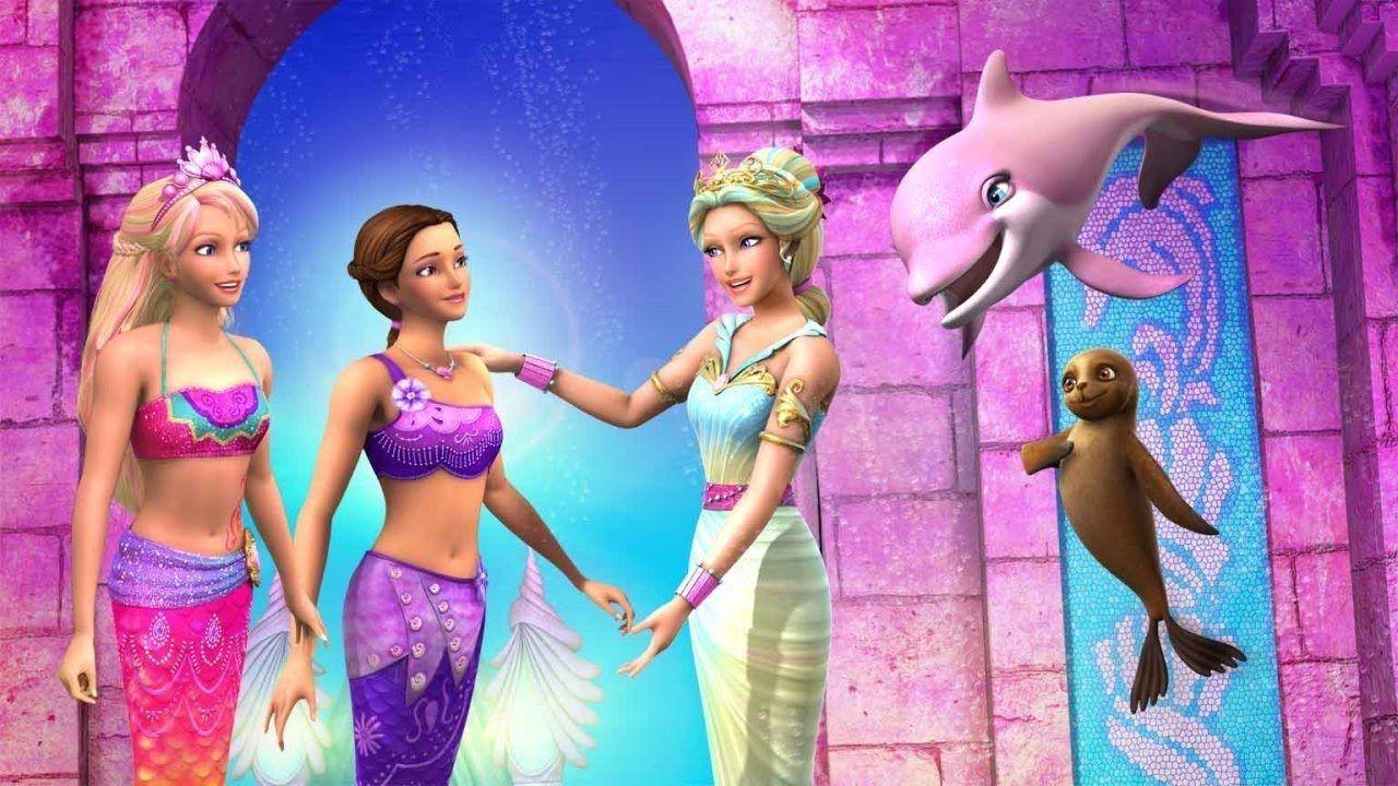 Barbie Et Le Secret Des Sirenes Dans Le Conte De Fees Des Enfants 2 2012 Barbie Cartoon Barbie Princess Barbie Fairy