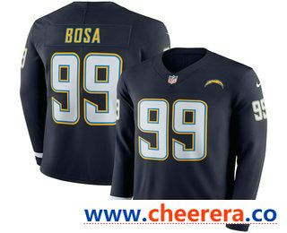 Men s Los Angeles Chargers  99 Joey Bosa Nike Navy Therma Long Sleeve Limited  Jersey 39c9fe4e1