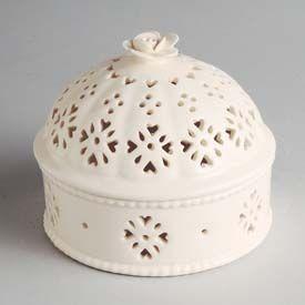 Hartley Greens Leeds Pottery Creamware Pot Pourri Dome Pottery Dinnerware Hartley