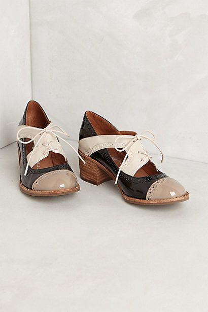 """Semifreddo Oxfords #anthropologie. Cant say I could wear these, having EDS, but I appreciate beautifully crafted shoes, and I love oxfords. They are now the fashion """"interest"""" of fall 2013, but hopefully here to stay"""