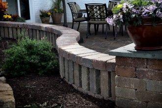 Decorative Walls Pillars Project Type Concrete Blocks Beautiful Wall Backyard Landscaping