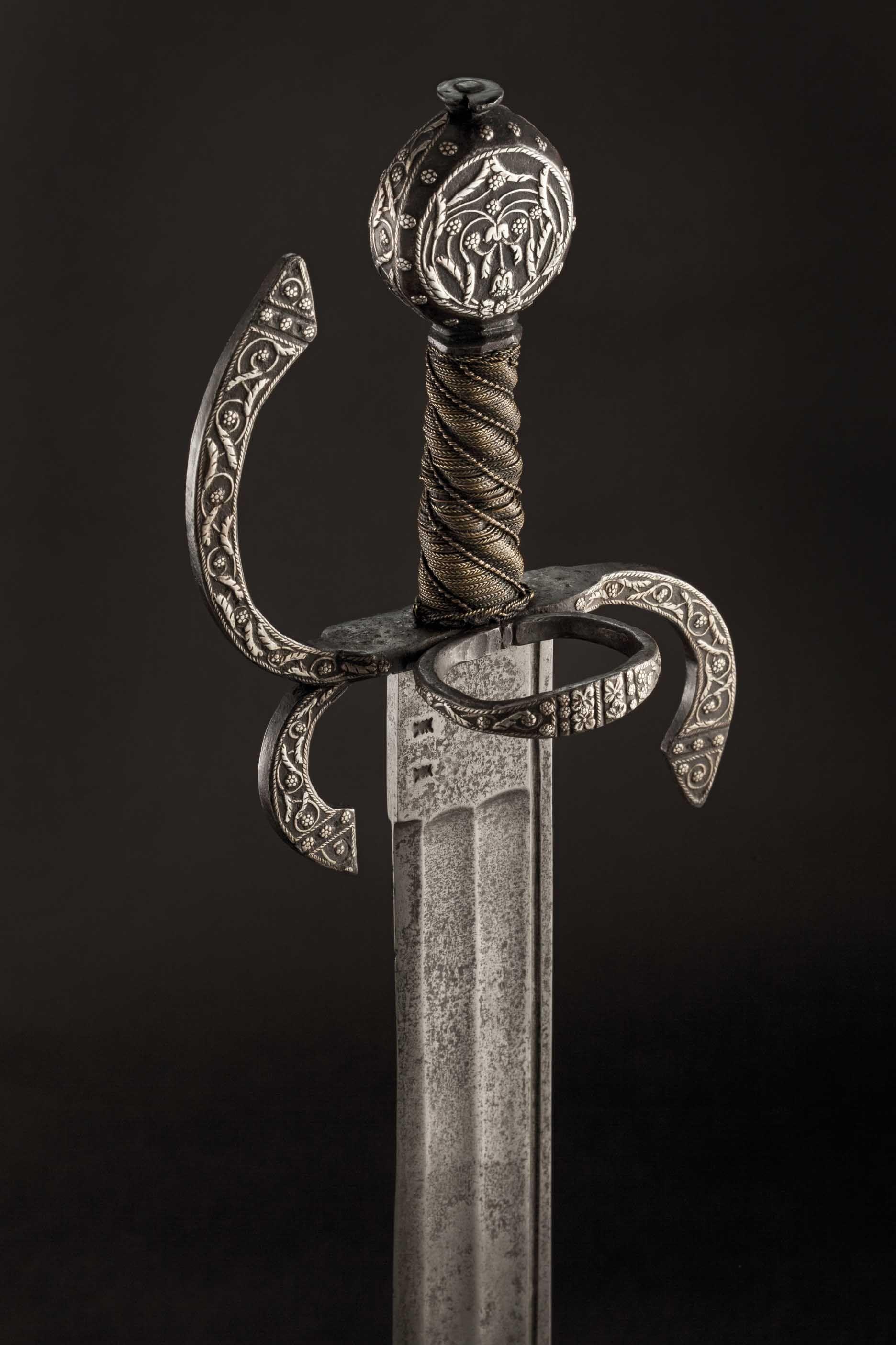 An Italian Silver Inlaid Storta Circa 1600 Lot Detail Hermann Historica Ohg Silber Italien Schwert