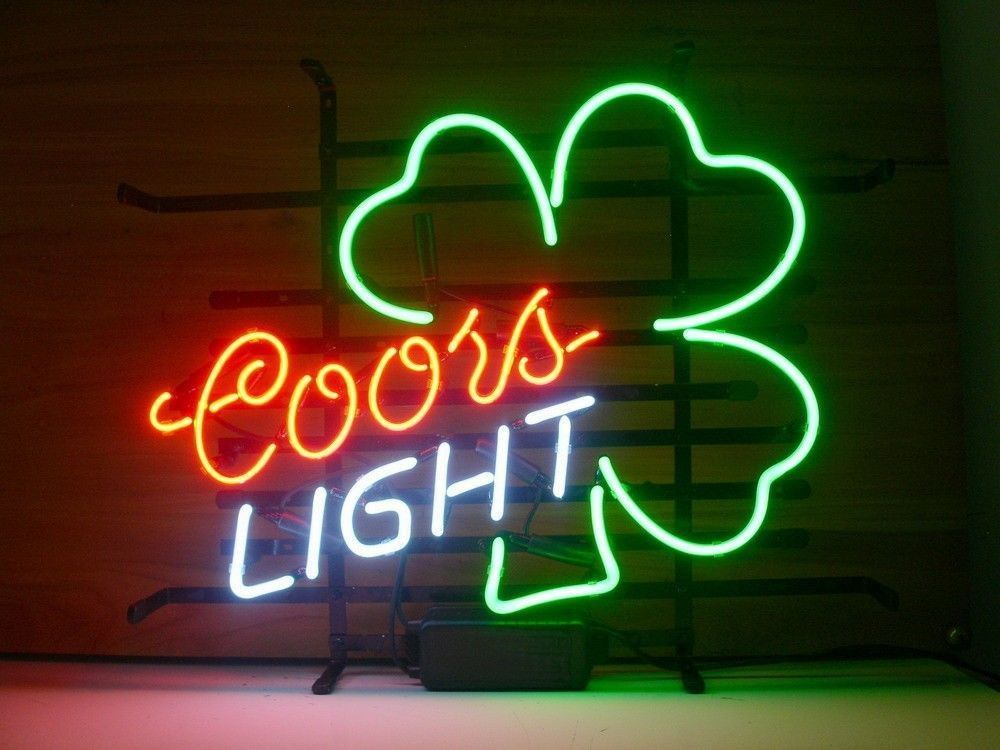Coors light shamrock neon sign neon and lights coors light shamrock neon sign mozeypictures Gallery