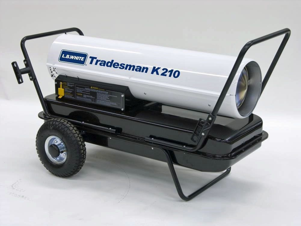 New Lb White K210 Tradesman Forced Air Kerosene Heater Authorized Dealer Portable Heater Kerosene Heater Forced Air Heater
