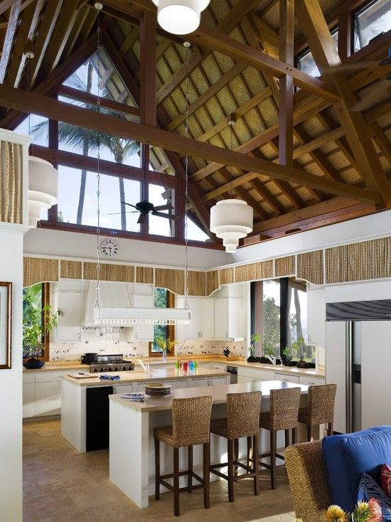 Wow This Ceiling And Roof Interior Is Beautiful Hawaii Kitchen Bamboo Design