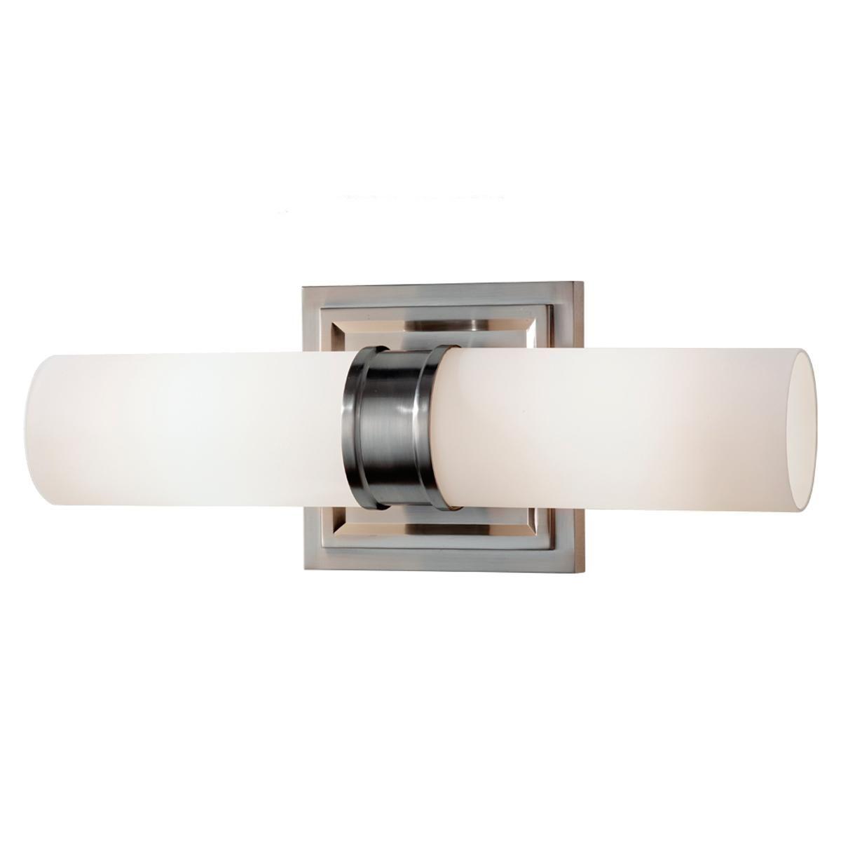 Bathroom Vanity Lights Vertical opal cylinder 2 light bath light | bath light, bath and lights