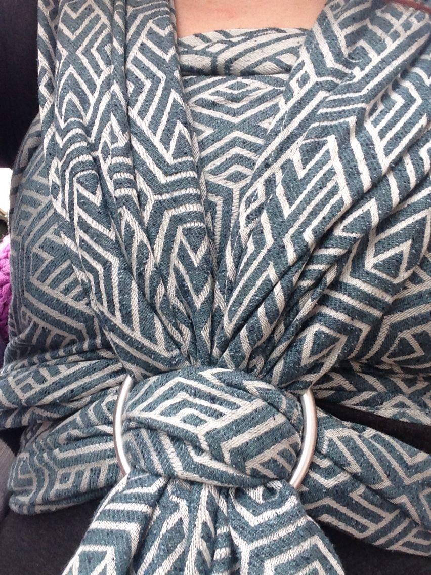 962432795c6 Woven Wings Snow Storm Geo 6 - 30% Bourette Silk 70% Egyptian Cotton ...