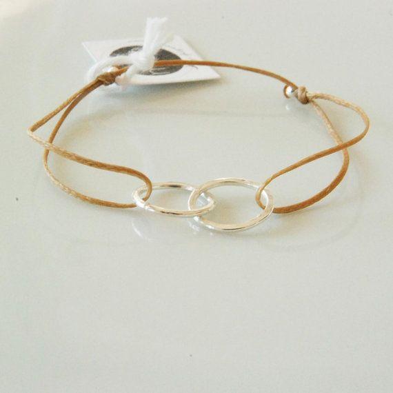 Infinity Symbol Bracelet On Beige Cord Good Karma Bracelet