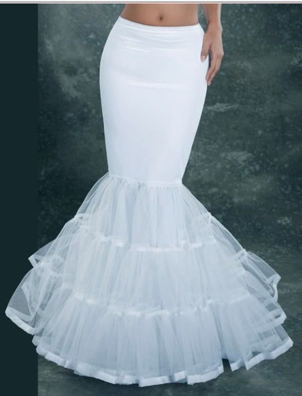 Petticoat Cocktail Crinoline Vintage Wedding Length Mermaid Trumpet Underskirt