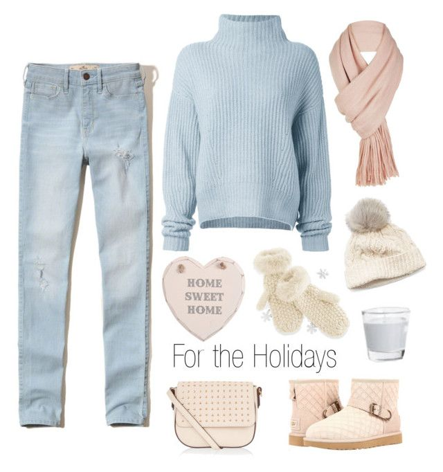 """Home for the Holidays"" by fancy-chic ❤ liked on Polyvore featuring Hollister Co., Le Kasha, Accessorize, Free People, Mark & Graham, UGG and SIJJL"