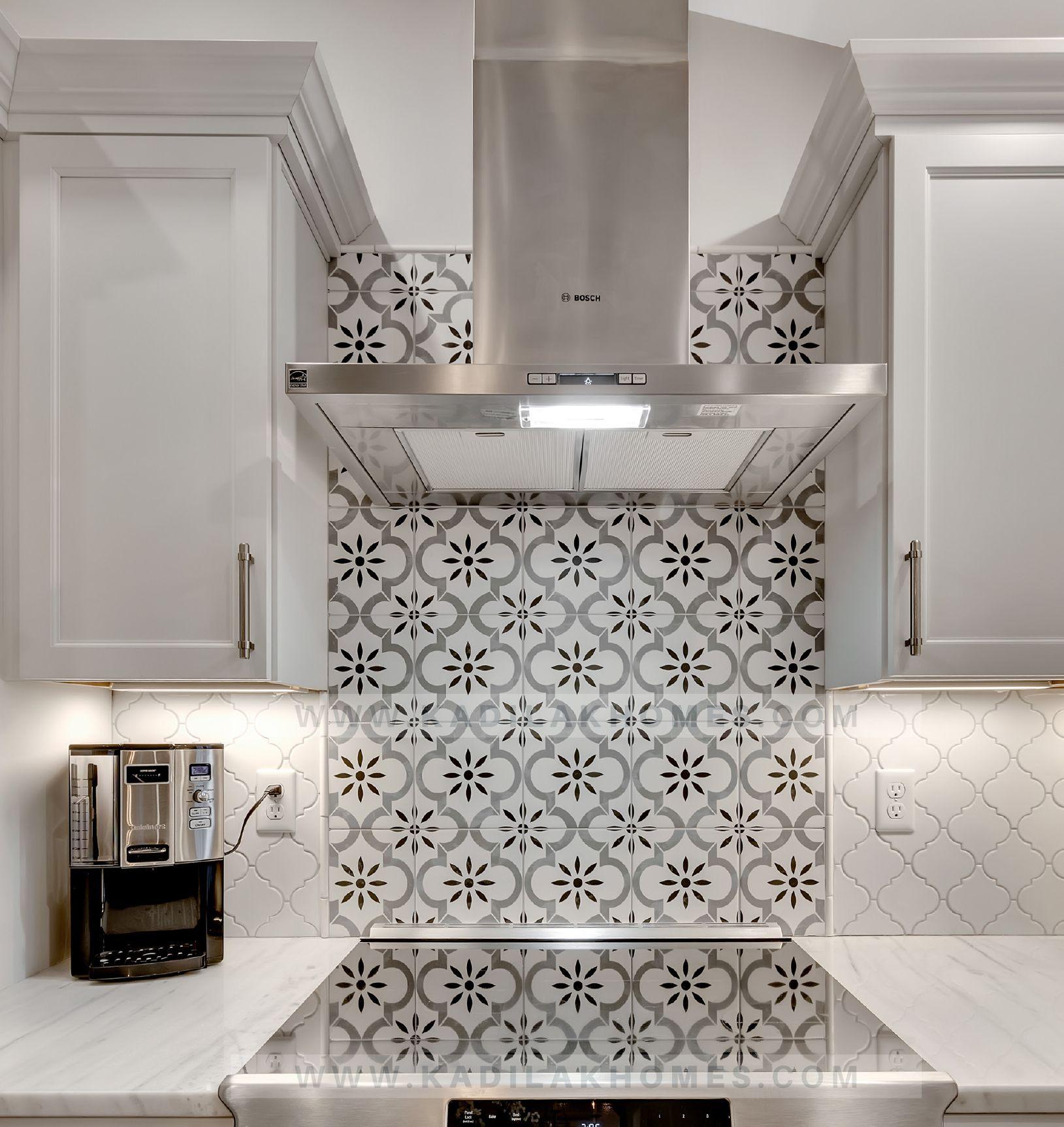 - Kitchen Accent Arabasque Tile! #backsplash #farmhousestyle