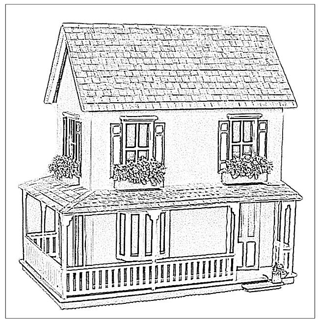 Images Of Magnolia Doll Coloring Pages Doll House Coloring Book Custom Dollhouse The Dollhouse House Colouring Pages Coloring Books Color