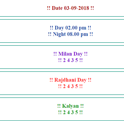 Today #kalyan Fix Game  Aaj ka fix game Fix Game 03-Sep-2018