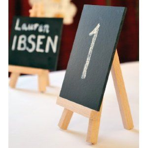Table Numbers Easel
