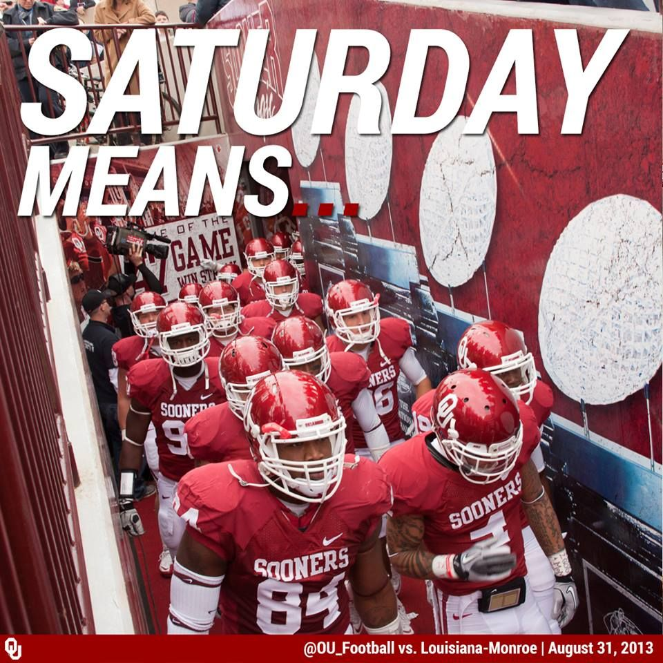 Saturday means this tunnel has life… Sooners, Oklahoma