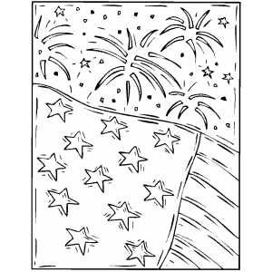 Firework And Flag Coloring Page Flag Coloring Pages Firework Colors Coloring Pages