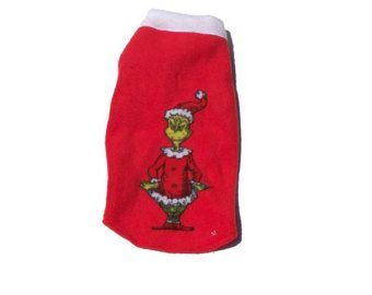 Grinch Fleece Dog Sweater Christmas