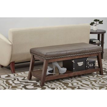 Emery Bonded Leather Storage Bench  sc 1 st  Pinterest & Emery Bonded Leather Storage Bench | living room/entry way ...