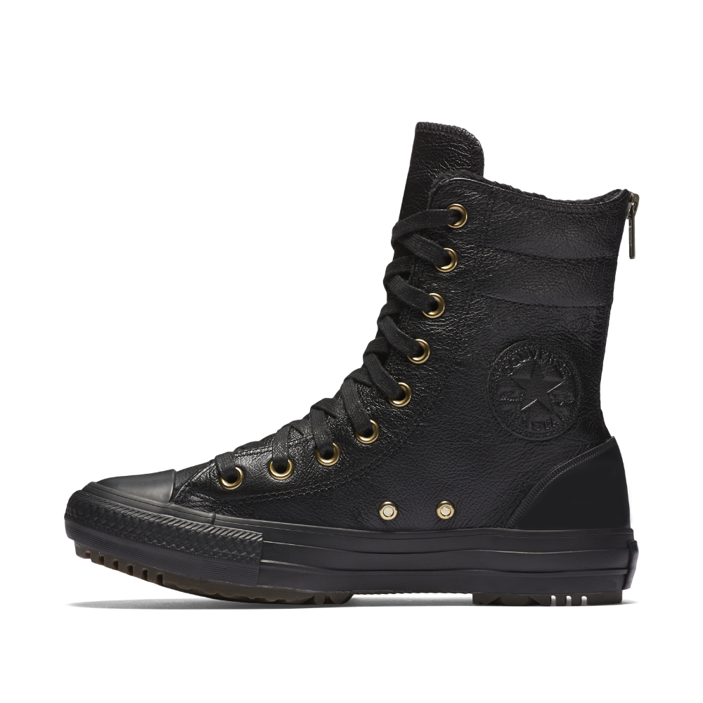 dc0397cadcdf Converse Chuck Taylor All Star Leather and Faux Fur High Rise Women s Boot  Size 5 (Black) - Clearance Sale