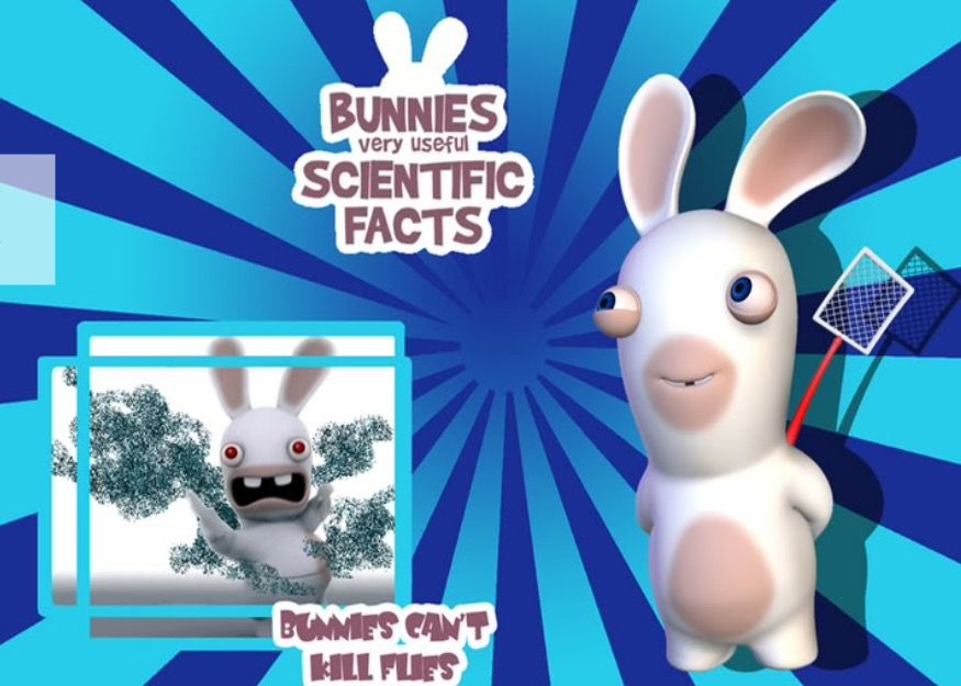 BUNNYS SCIENTIFIC FACT: Rabbids Cant Kill Fly's!!!!