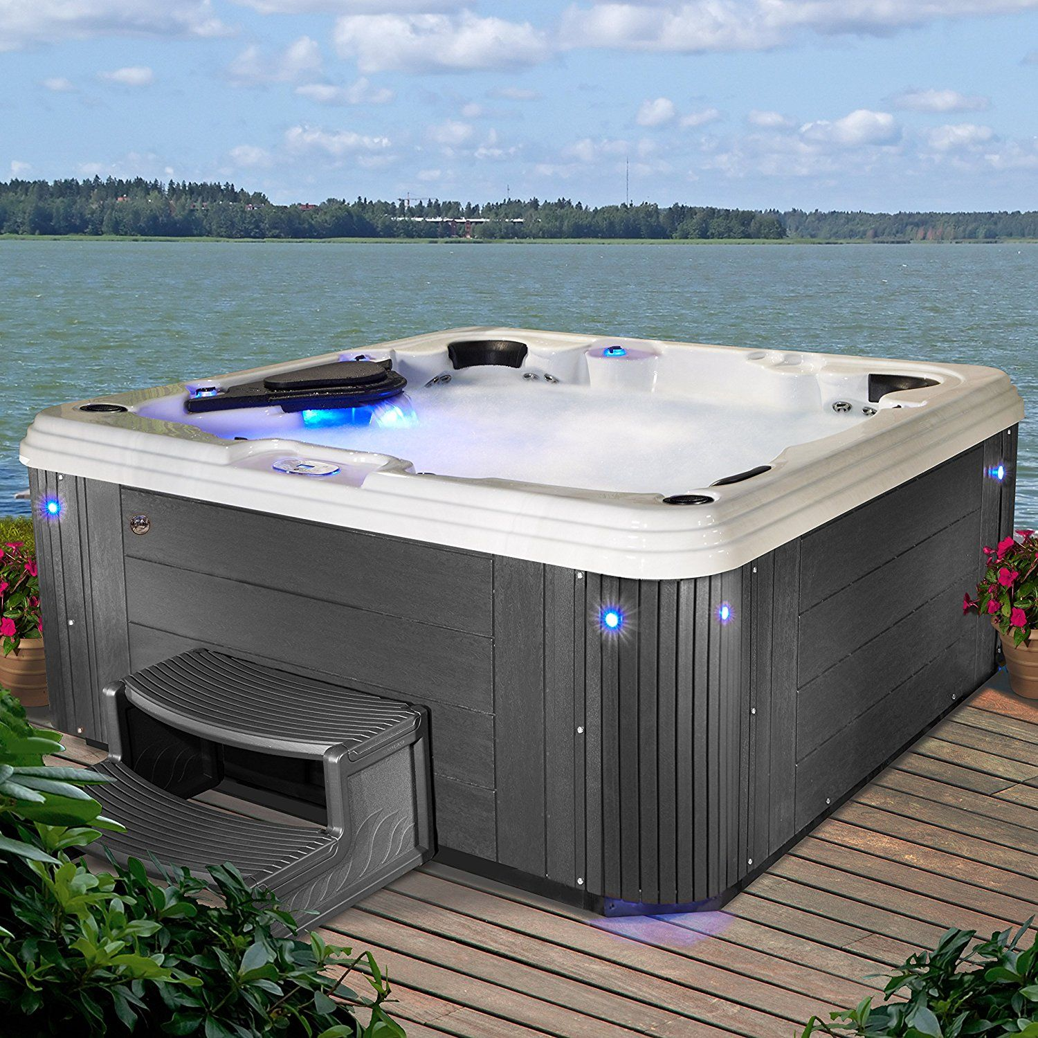 Jacuzzi Pool Amazon Amazon Essential Hot Tubs Ss234677403 Syracuse 67 Jet Hot
