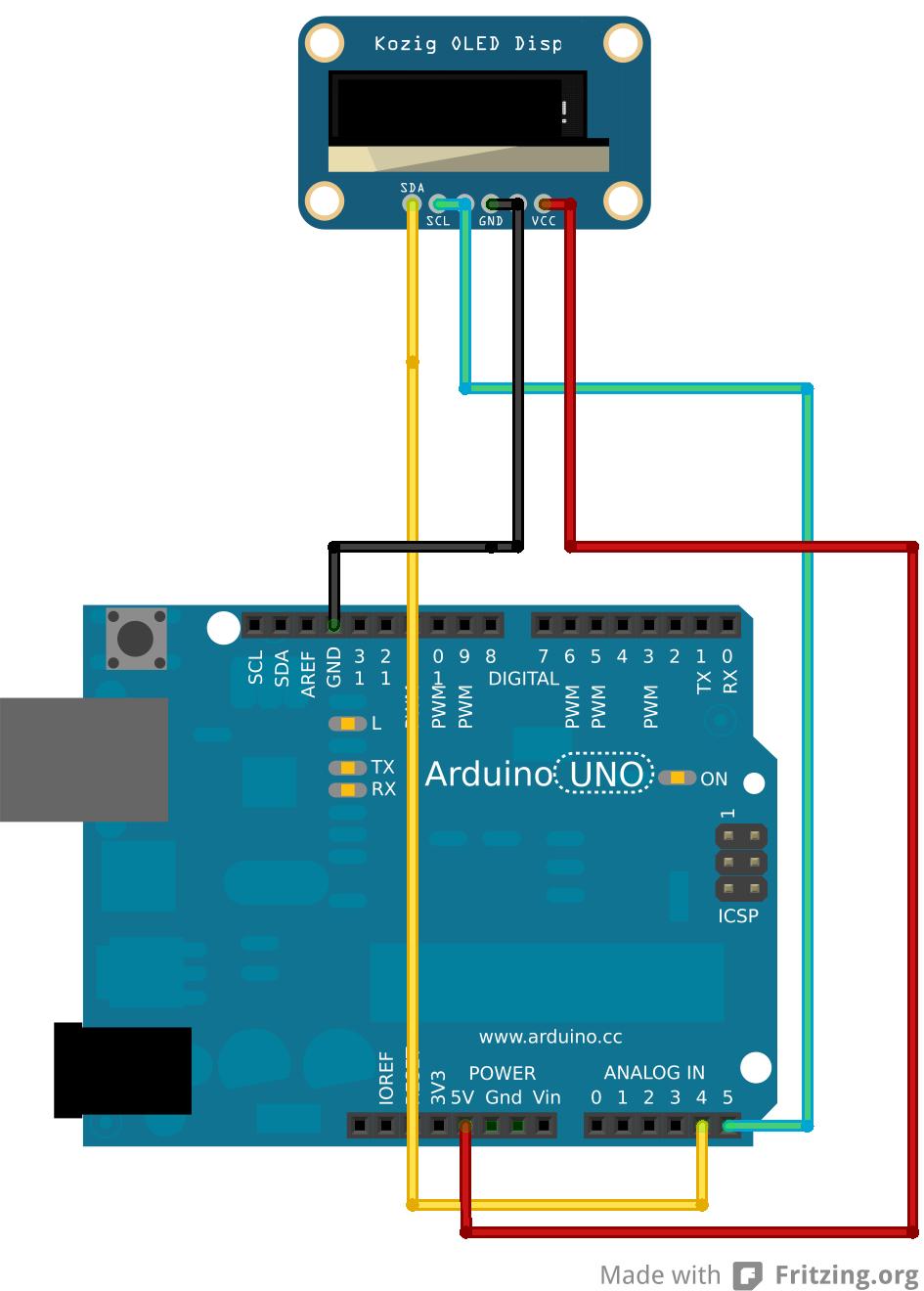 Arduino Oled Display Wiring Arduino Display Digital