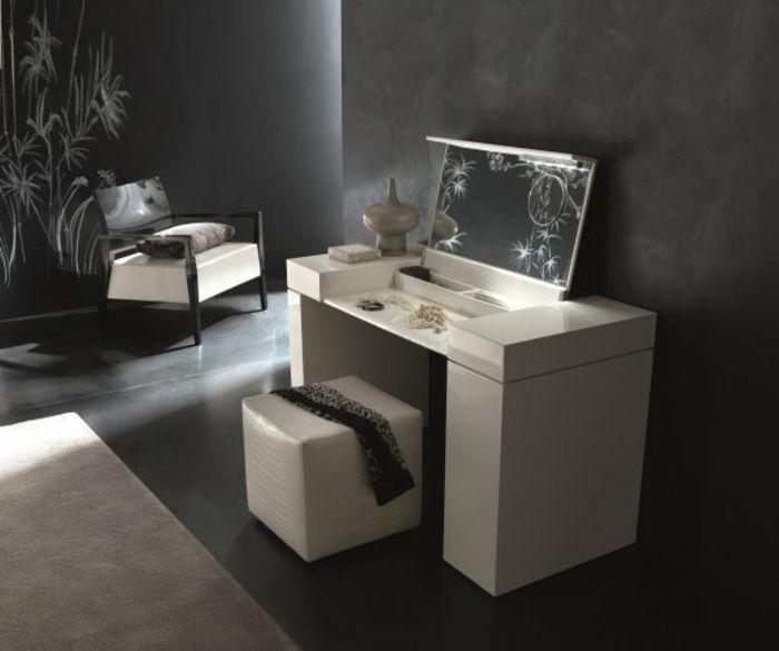 schminktisch mit klapp spiegel wei e farbe spiegel. Black Bedroom Furniture Sets. Home Design Ideas