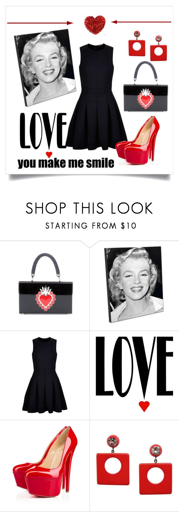 """""""Love, You Make Me Smile"""" by conch-lady ❤ liked on Polyvore featuring Charlotte Olympia, Comptoir Des Cotonniers, Christian Louboutin and First People First"""