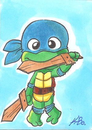 TMNT Baby Leonardo Art Card by *kevinbolk on deviantART ...