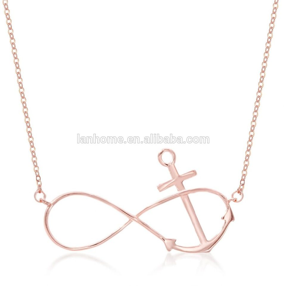 18k rose gold over 925 sterling silver symbol infinity anchor 18k rose gold over 925 sterling silver symbol infinity anchor necklace buycottarizona Images