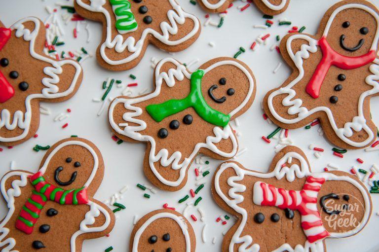 Gingerbread cookies (soft and chewy) | Sugar Geek Show #gingerbreadcookies