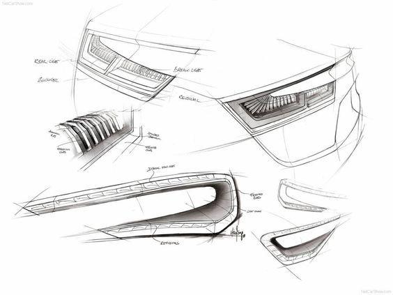 Car Lights Sketching Depth Car Design Sketch Sketches Industrial Design Sketch