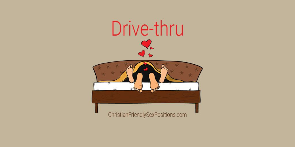 Drive-thru cunnilingus position