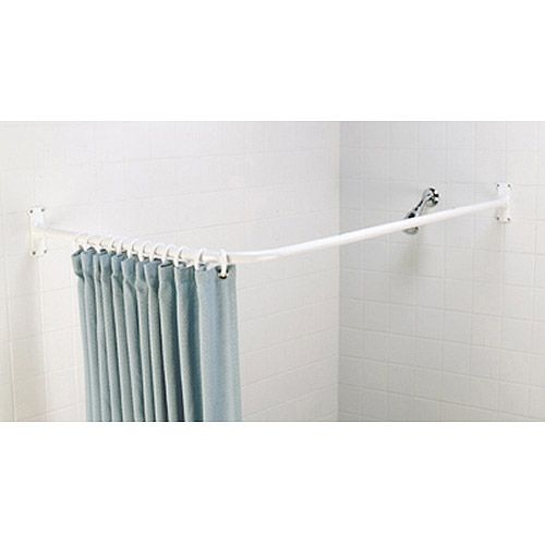 Zenith Products L Shower Rod - Walmart.com $24. For laundry room to ...