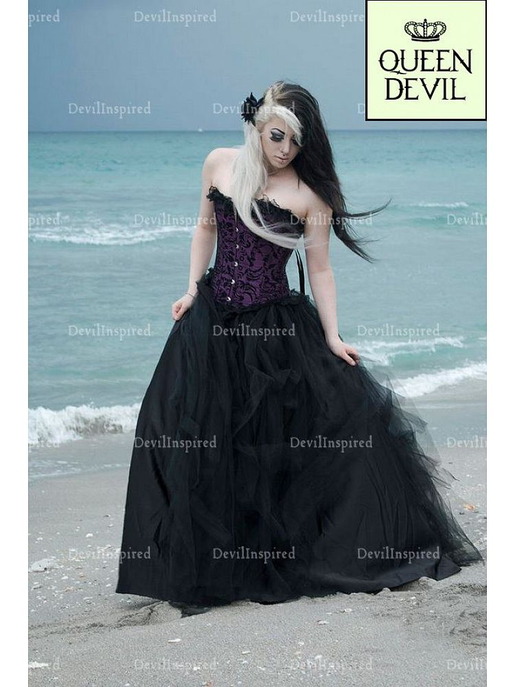 Fine Gothic Style Prom Dresses Embellishment - Wedding Dresses and ...