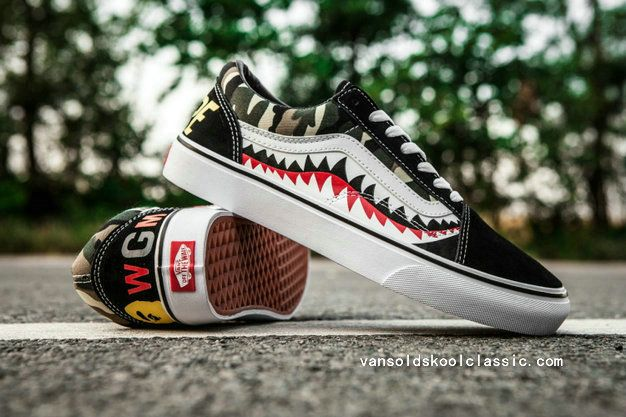 5d71c27f3c Wholesale Old Skool Vans Sewn Red Roses Vans BAPE Custom Sneakers Vans For  Sale-www.vansoldskoolclassic.com