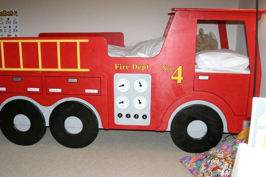 boys room fire truck bed room ideas rh pinterest com  fire truck bedding for toddler bed