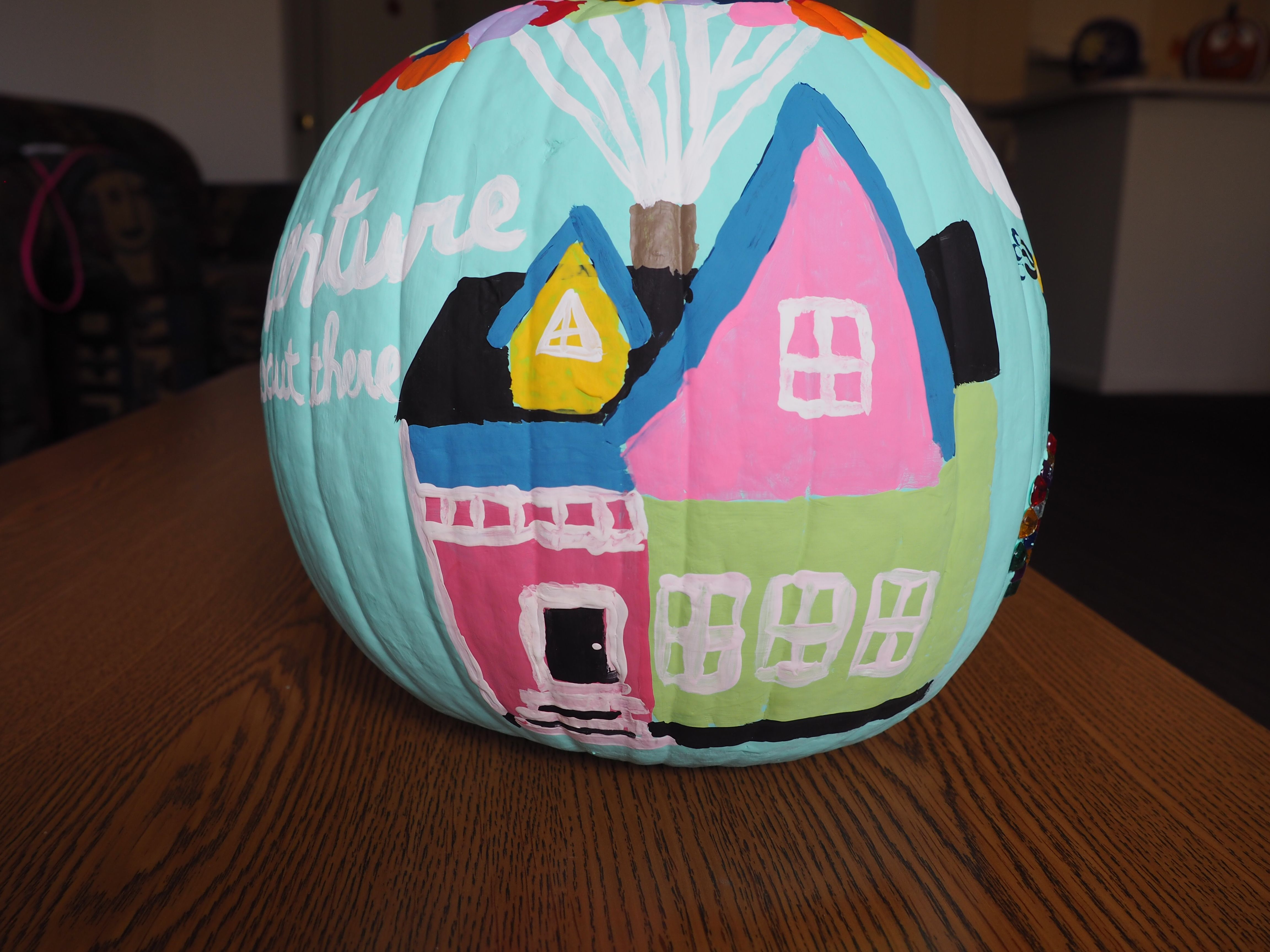 Up House Pumpkin Painting Painted Pumpkins Pumpkin Decorating Pumpkin Carving