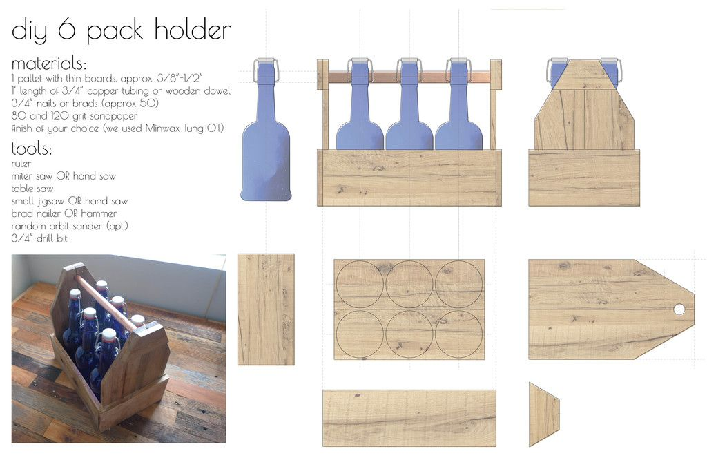 How To Build A Diy Reclaimed Wood 6 Pack Holder Beer Box Beer Crate Beer Wood